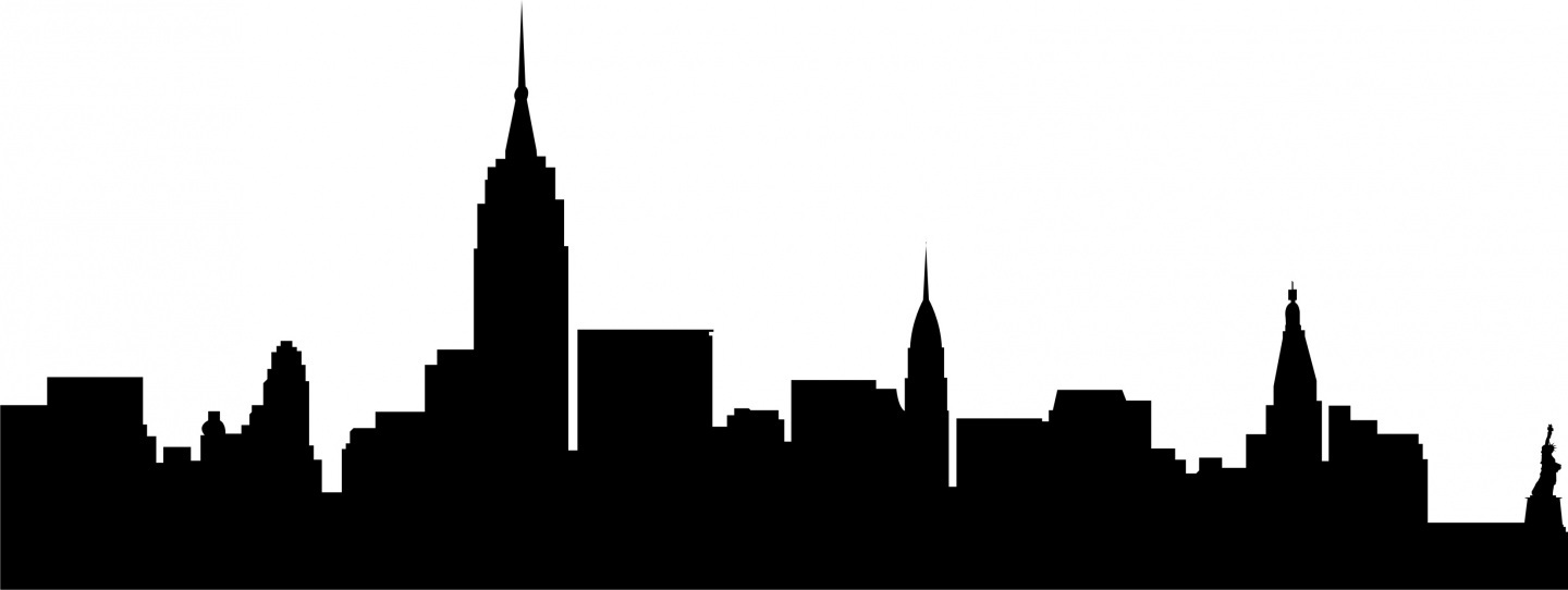 Line Drawing New York City Skyline : City skyline new york silhouette clipart free clip art