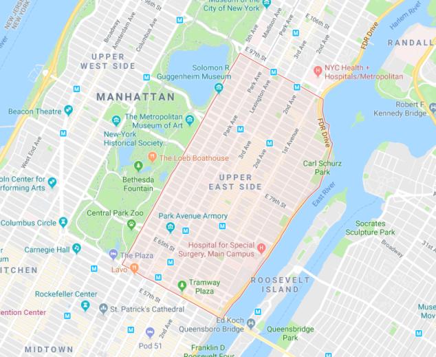 """纽约曼哈顿上东区:前有""""氏族""""后至""""新贵"""",他们为何不约而同以此为家?"""